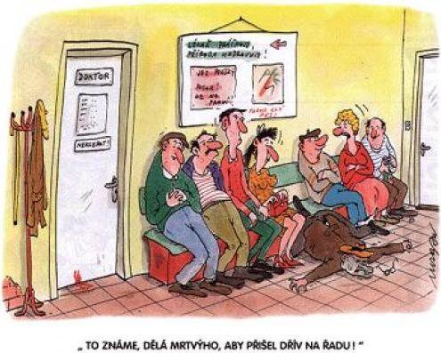 U lékaře v čekárně