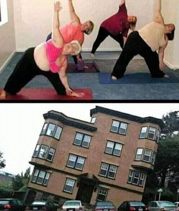 Vtip jak cvičí obézní lidé