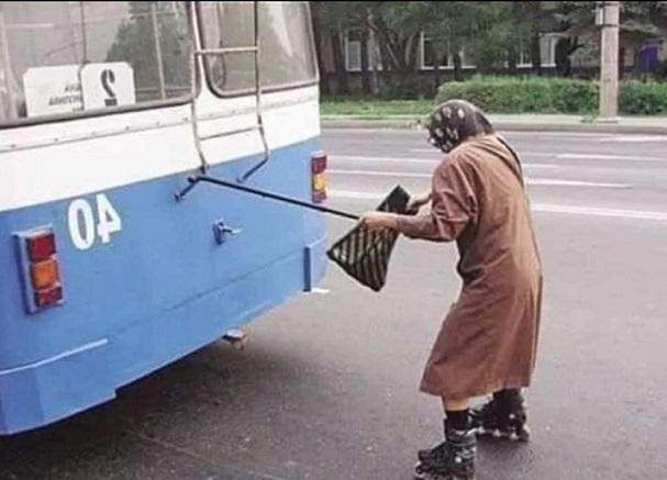 Vtip jak ušetřit za autobus
