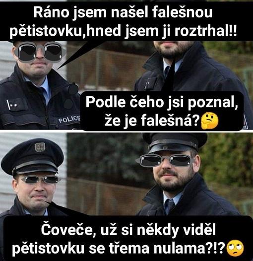 Vtip policajt a pětistovka
