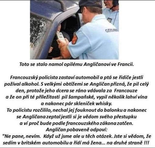 Co se stalo opilému Angličanovi ve Francii