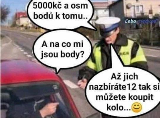 Vtip policie a body