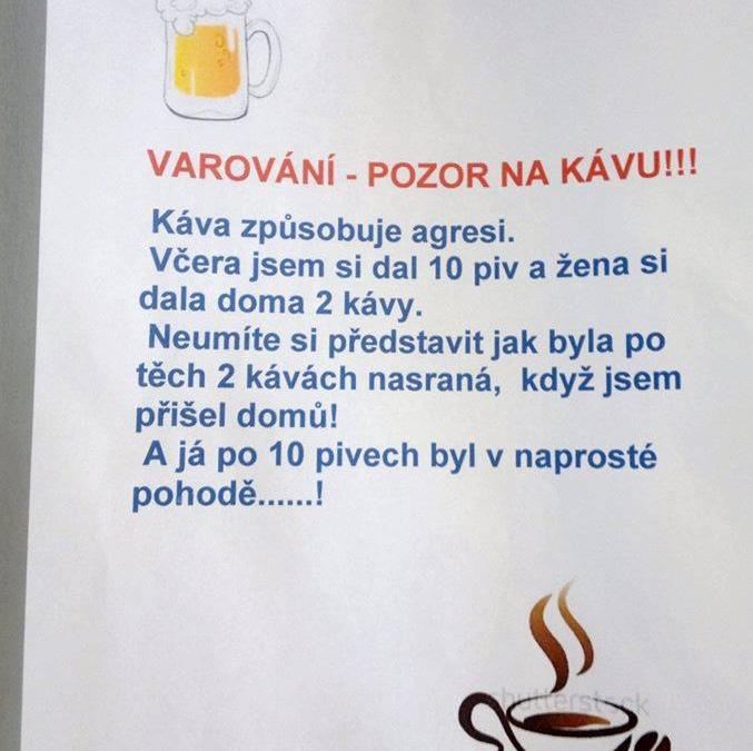 Pozor na kávu