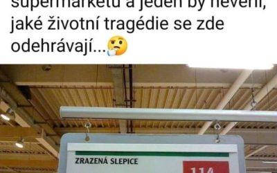 Slepice v supermarketu